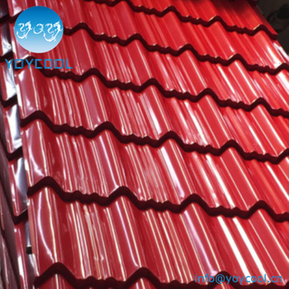 Painted Corrugated Steel roof tile